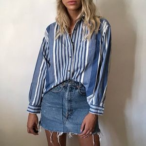 {Vintage} striped cotton button down